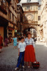 Jonathon & MaryAnne at Gros Horloge of Rouen during Sixth Grade field trip - (May 24,1989 / Rouen, Seine-Maritime département, Normandy, France) -- Jonathon & MaryAnne