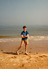 Jonathon on Utah Beach during Sixth Grade field trip - (May 23,1989 / Utah Beach, Normandy, France) -- Jonathon