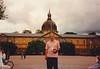 David in front of the Armémuseum (Swedish Army Museum) - (July 15, 1989 / Östermalm, Stockholm, Sweden) -- David