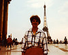 MaryAnne at 100 ans [100 year anniversary] of La Tour Eiffel [the Eiffel Tower] during Sixth Grade field trip - (May 24,1989 / Paris, France) -- MaryAnne