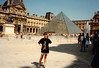 Jonathon visiting the Louvre during Sixth Grade field trip - (May 25,1989 / Musée du Louvre, Paris, France) -- Jonathon