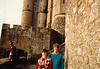 Jonathon & MaryAnne on Sixth Grade field trip to L'abbaye du Mont Saint Michel - (May 22, 1989 / Mont Saint Michel, Normandy, France) -- Jonathon & MaryAnne
