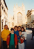 David, Jonathon, MaryAnne, Michael, Andrew & Cristen at Abbey Church of Saint Peter and Saint Paul (April 6, 1990 / Bath Abbey, Bath, Somerset County, England, United Kingdom) -- Bath Abbey