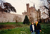 Cristen & David at Cardiff Castle (April 6, 1990 / Cardiff, Glamorgan County, Wales, United Kingdom) -- Cristen & David