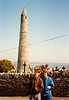 Michael & MaryAnne at Ardmore Round Tower (April 7, 1990 / Ardmore, County Waterford, Ireland) -- Michael & MaryAnne