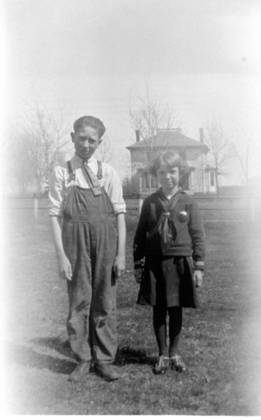 1923, With Brother Ed