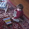 2004-1-23 - Ian identifying colors on xylophone, opening Karen's birthday presents