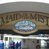 Maid of the Mist Embarkation point, at the base of the observation tower.