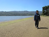 Ryan walking on the beach at Tomales Bay