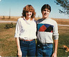 Becky Aubin and David Warner.  Taken out by highway 39 on farm.  September 1984