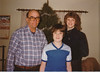 Ralph, David and Becky Warner.  Taken in living room of farm.  Christmas 1981?