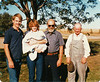 Pete, Becky, Matt Aubin. Ralph Warner, Uncle Art Carlson. Taken at Mom and Dad's farm.