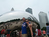 The famous Bean in Millenium Park.