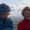Lizzie and Penny on top of East Lomond