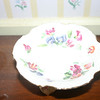 This small candy dish with legs has a note underneath it designating it to Jessica.  A better photograph follows.