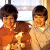 1977 - Burt the puppy with Randy and Jeff