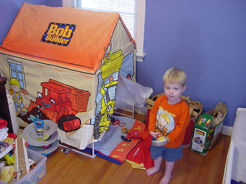 Paul's New Bob the Builder Tent