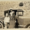 Earle Howard & Violet Campbell Taken Aug 1930 in the Logan Canyon, near Logan Utah  Behind them is a 1928 Model A, Ford, Business Coupe, belonging to Henry Campbell
