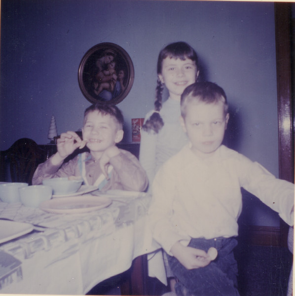 6 25 2014  Buddy, Rob and Judy, our Western Ave house, about 1957