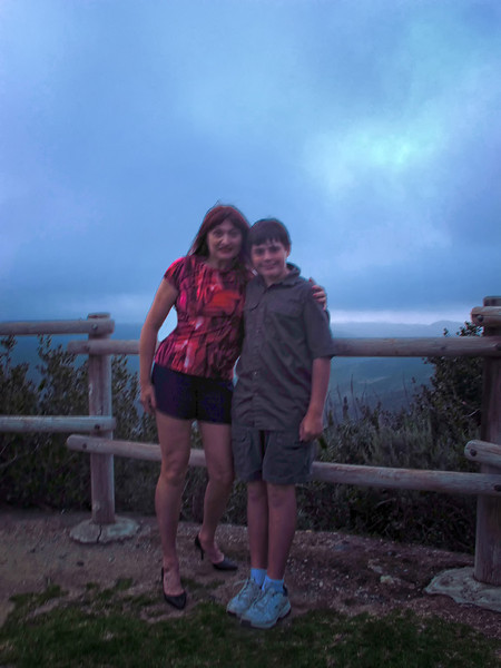 May 21 2013  June Gloom is coming: evening at the top of our hill overlooking Aliso Wilderness Park
