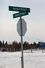 Fort Albany street sign: Niska Road and Main Street.