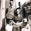 Ben Cecil Martha Fisher Richard Barbara Lowe 323 Burnley Road yard c 1943