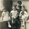 1920 Patti Whitney and children Howard 4 yrs 2 mo, Elizabeth 2 yrs 10 months, Robert 14 months   Wearing clothes worn at Iola Burns (McCrea) wedding as ribbon bearers (2)
