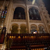 You can see some of the organ pipes on the opposite wall as well as the console from where it is played.