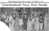 Crawshawbooth Primitive Methodist Fancy Dress Parade 19511124 Maureen Fisher 4th from left front row Margaret Lowe bride