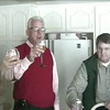 Christmas 2006 - Bill gives a toast to me
