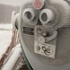 Too cold to put your face against this binocular viewer, made, since 1932, by Tower Optical Co of Norwalk, CT.