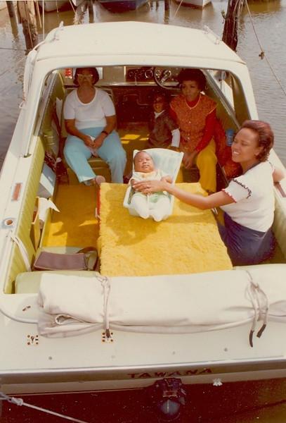 bigma grand ma on boat
