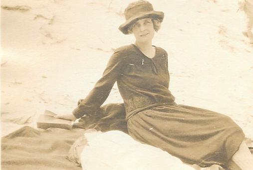 Florence Watts (my great grandmother) July 1922, at the sand dunes between Bay Head and Point Pleasant NJ