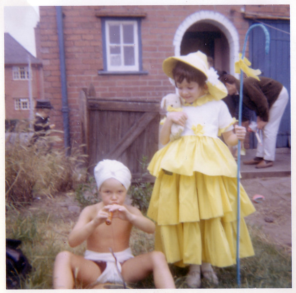 Mum was telling me that they only decided they wanted to go to the fancy dress party the day before so she rushed down to the shops to get the materials and stayed up all night making the outfits so they could go.