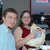 Our first night out at a restaurant with new baby Ethan!