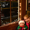 Jack and Mommy staying warm in the station at the 2013 Polar Express