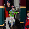 Brady and Daddy stop for a picture while boarding the 2013 Polar Express