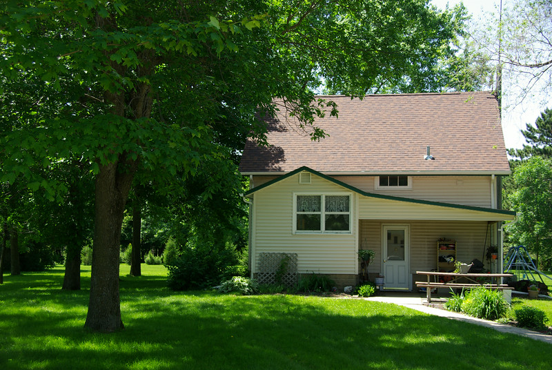 This Oxbow caretaker's home was the Russell Rasmussen residence in the 1950s when they ran a dairy farm here
