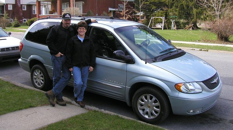 Edie & I are ecstatic over  our new 2001 Chrysler Town & Country, with all wheel drive featuring lots of bells & whistles.