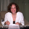 2007 Sue at the keyboard, composing during one of her winter fest jams