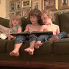 Ryan reading to Lexie and Kyle September 29th, 2014
