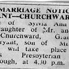 Sylvia and Lyall Bryant Marriage notice