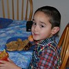 Breakfast Christmas Morning Waffles Satsuma Sausages and Milk 2006