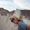 The wind flew right up the face of the dam.  It's over 100 degrees at 6:00 PM on Hoover Dam.