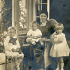 1920 Patti Whitney and children Howard 4 yrs 2 mo, Elizabeth 2 yrs 10 months, Robert 14 months   Wearing clothes worn at Iola Burns (McCrea) wedding as ribbon bearers