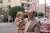 Zev Averbach with Grandpa Archie Krugman