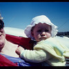 Circa early 80s/ Cathy holding baby Laura before flying down to Bermuda in the family plane