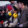 Circa late 40s-early 50s/ Army Navy game at Franklin Field in Philadelphia, PA. At right is John Moriarty. To shis right is Angie Krupinsky. To her right is Helen Moriarty. I'm guessing Walter Krupinsky Sr took the picture.