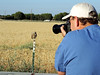 Mike photographing Burrowing Owl in Brentwood, CA