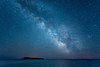 "MILKY WAY 4305<br /> <br /> ""Milky Way over Pete's Island""<br /> <br /> Grand Portage, MN"